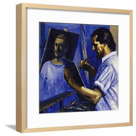 Gauguin Lived in Poverty, Selling Only the Occasional Picture-Luis Arcas Brauner-Framed Art Print