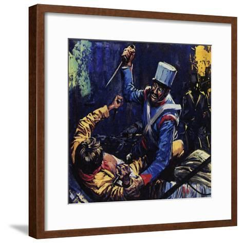 Jim Bowie Is Said to Have Been the Last Texan Alive at the Alamo-Luis Arcas Brauner-Framed Art Print