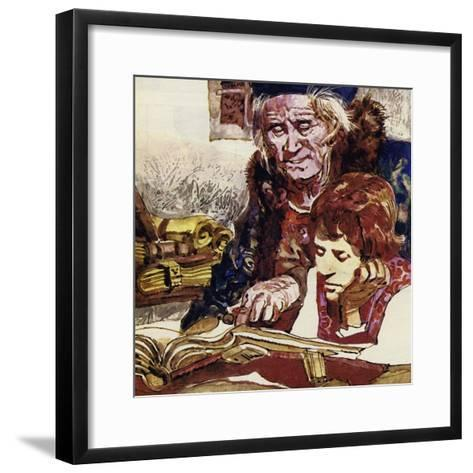 Francois Was Taught by a Priest Who Became His Benefactor--Framed Art Print