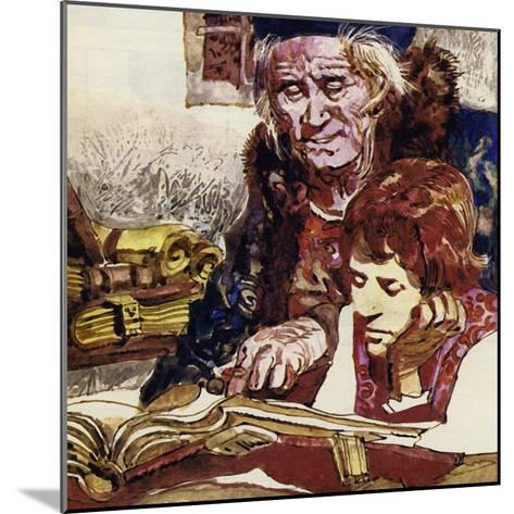 Francois Was Taught by a Priest Who Became His Benefactor--Mounted Giclee Print