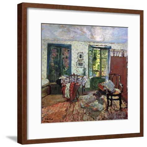 Annette in an Interior; Annette Dans Un Interieur, C.1903-Edouard Vuillard-Framed Art Print