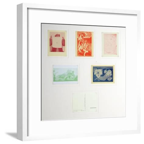 Post Cards Published by the English Surrealist Group--Framed Art Print