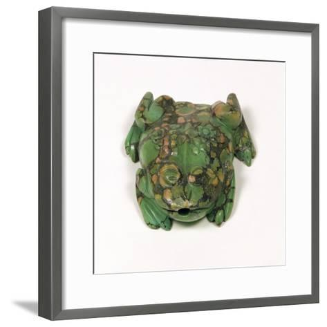 H3931 Turquoise Frog Shaped Snuff Bottle, Qing Dynasty--Framed Art Print