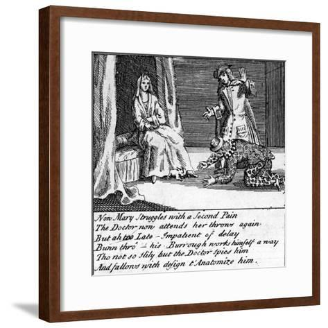 The Doctor in Labour, or the New Whim Wham from Guildford, Circa 1726-Haynes King-Framed Art Print