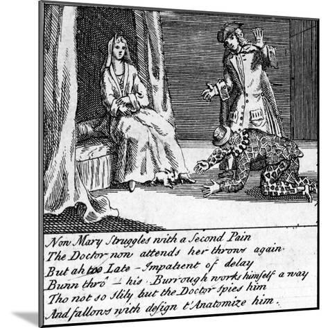 The Doctor in Labour, or the New Whim Wham from Guildford, Circa 1726-Haynes King-Mounted Giclee Print
