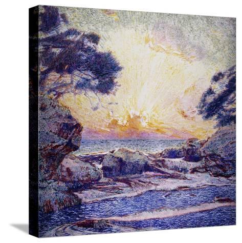 Cote Scene, Sunset, Scene De Cote, Coucher De Soleil-Frans Gaillard-Stretched Canvas Print