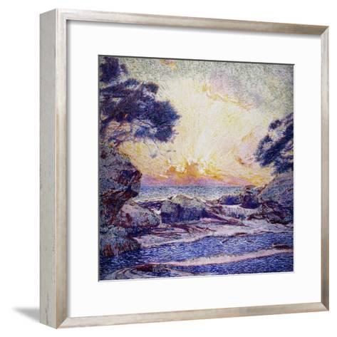 Cote Scene, Sunset, Scene De Cote, Coucher De Soleil-Frans Gaillard-Framed Art Print