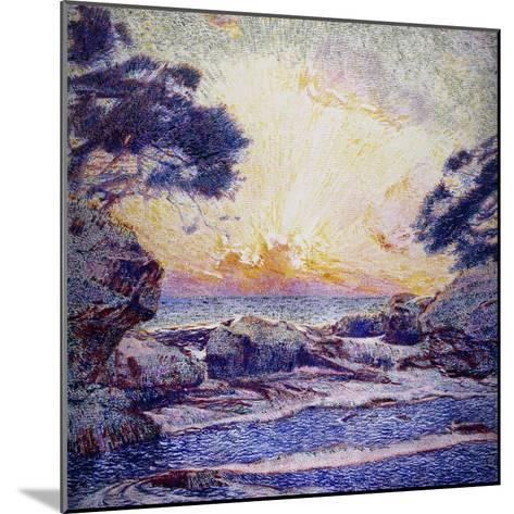 Cote Scene, Sunset, Scene De Cote, Coucher De Soleil-Frans Gaillard-Mounted Giclee Print