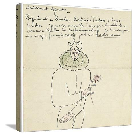 Autograph Letter to Melchor Fernandez Alamgro, Granada, Late January 1926-Federico Garcia Lorca-Stretched Canvas Print