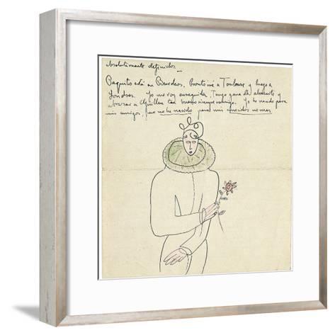 Autograph Letter to Melchor Fernandez Alamgro, Granada, Late January 1926-Federico Garcia Lorca-Framed Art Print