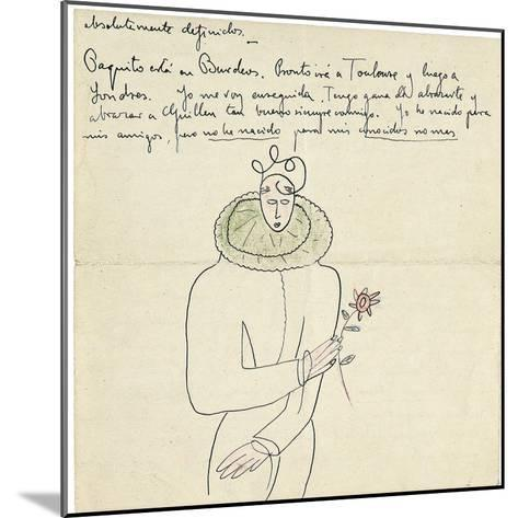 Autograph Letter to Melchor Fernandez Alamgro, Granada, Late January 1926-Federico Garcia Lorca-Mounted Giclee Print