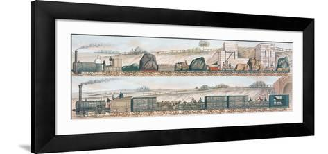 Liverpool and Manchester Railway: Freight and Livestock--Framed Art Print