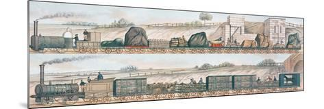 Liverpool and Manchester Railway: Freight and Livestock--Mounted Giclee Print