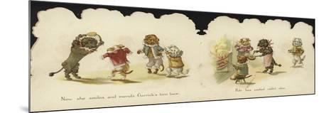 Interior of a Card Depicting Dogs in Circus Costumes--Mounted Giclee Print