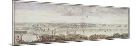 View from the Side of the Infirmary, Marseille, 1698--Mounted Giclee Print