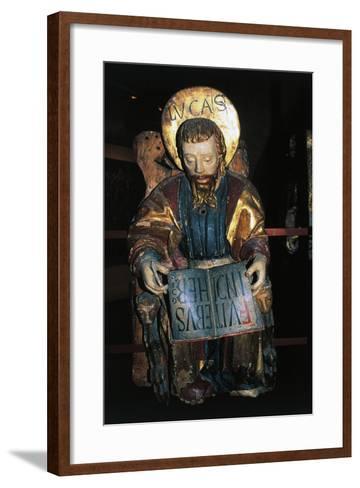 Luke Evangelist, Polychrome Wooden Statue, Tarragona Cathedral--Framed Art Print