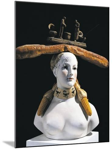 Retrospective Bust of Woman, 1933-Salvador Dal?-Mounted Giclee Print