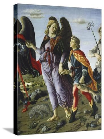 Panel with Three Angels and Tobias, Circa 1470-Francesco Botticini-Stretched Canvas Print