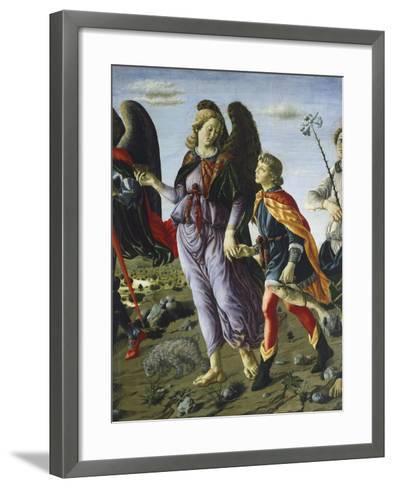 Panel with Three Angels and Tobias, Circa 1470-Francesco Botticini-Framed Art Print