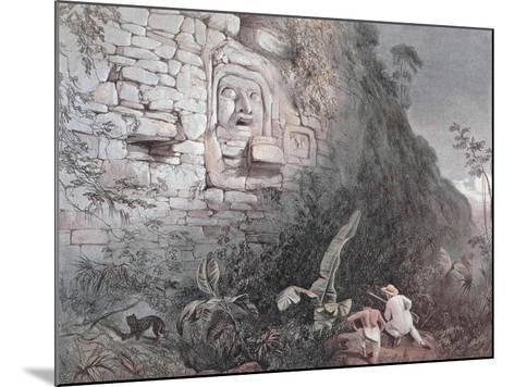 Carved Head of Itzamna in Izamal-Frederick Catherwood-Mounted Giclee Print