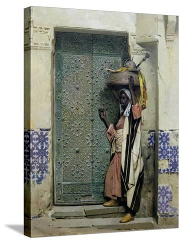 An Eastern Doorway: at the Moslem Chief's Door, 1887-Raphael Von Ambros-Stretched Canvas Print