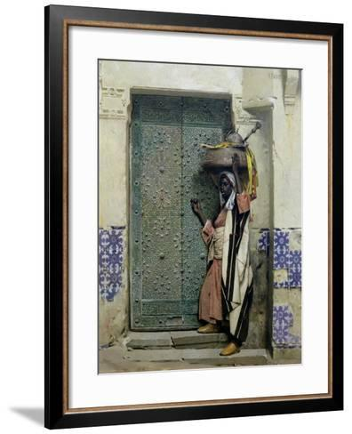 An Eastern Doorway: at the Moslem Chief's Door, 1887-Raphael Von Ambros-Framed Art Print
