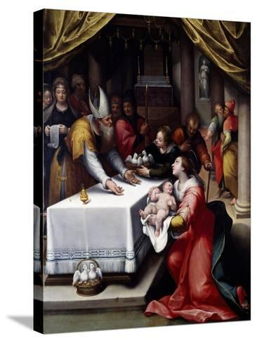 Presentation of Jesus in the Temple-Denis Calvaert-Stretched Canvas Print