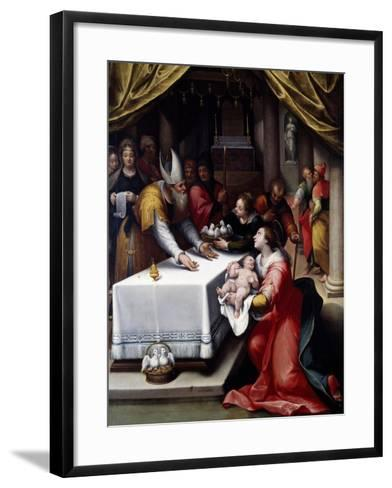 Presentation of Jesus in the Temple-Denis Calvaert-Framed Art Print