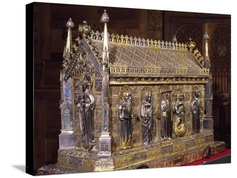 Wooden Case with Reliquary of St Grato-Giovanni De Malines-Stretched Canvas Print