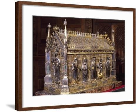 Wooden Case with Reliquary of St Grato-Giovanni De Malines-Framed Art Print