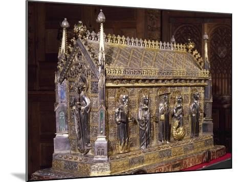 Wooden Case with Reliquary of St Grato-Giovanni De Malines-Mounted Giclee Print