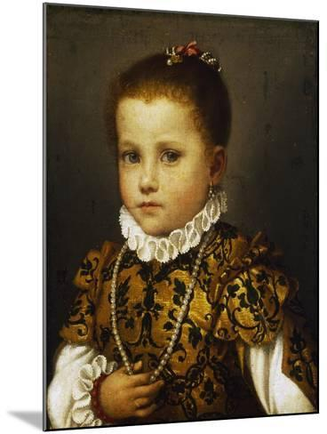 Portrait of a Little Girl, Ca 1570-Giovan Battista Moroni-Mounted Giclee Print
