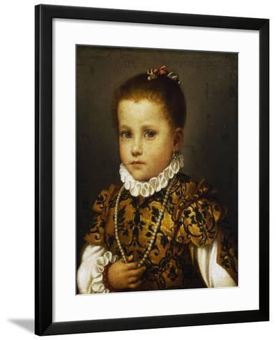 Portrait of a Little Girl, Ca 1570-Giovan Battista Moroni-Framed Art Print