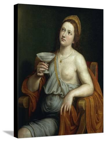 Sophonisba Drinking Poison-Giovanni Francesco Caroto-Stretched Canvas Print