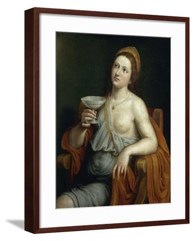 Sophonisba Drinking Poison-Giovanni Francesco Caroto-Framed Art Print
