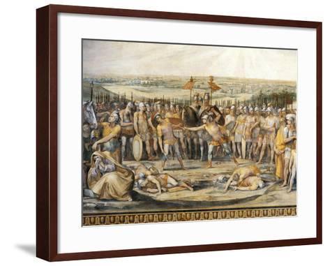 Combat Between Horatii and Curiatii-Giuseppe Cesari-Framed Art Print