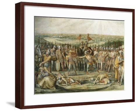 Combat Between the Horatii and Curiatii-Giuseppe Cesari-Framed Art Print