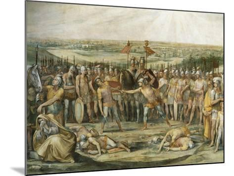 Combat Between the Horatii and Curiatii-Giuseppe Cesari-Mounted Giclee Print