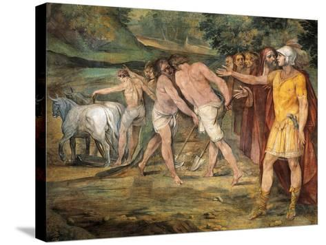 Romulus Marking Limits of Rome-Giuseppe Cesari-Stretched Canvas Print