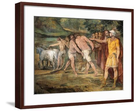 Romulus Marking Limits of Rome-Giuseppe Cesari-Framed Art Print