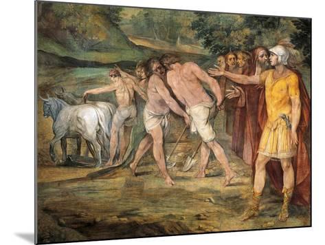 Romulus Marking Limits of Rome-Giuseppe Cesari-Mounted Giclee Print