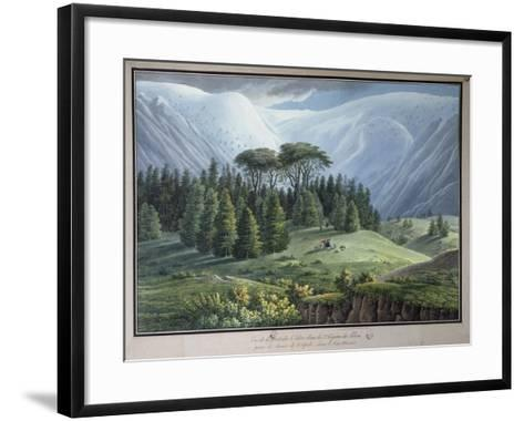 View of the Cedar Forests of Lebanon Seen from the Tripoli Road, C.1800-Louis-Francois Cassas-Framed Art Print