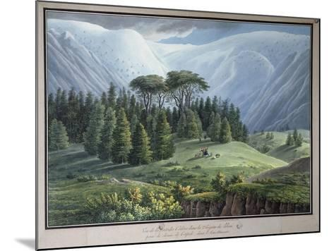 View of the Cedar Forests of Lebanon Seen from the Tripoli Road, C.1800-Louis-Francois Cassas-Mounted Giclee Print