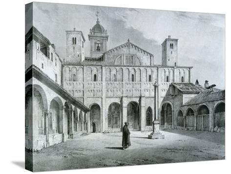 The Romanesque Cathedral of Novara-Nicolas Chapuy-Stretched Canvas Print