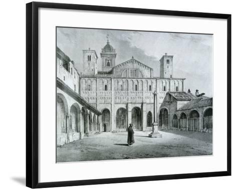 The Romanesque Cathedral of Novara-Nicolas Chapuy-Framed Art Print