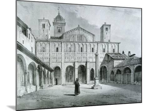 The Romanesque Cathedral of Novara-Nicolas Chapuy-Mounted Giclee Print