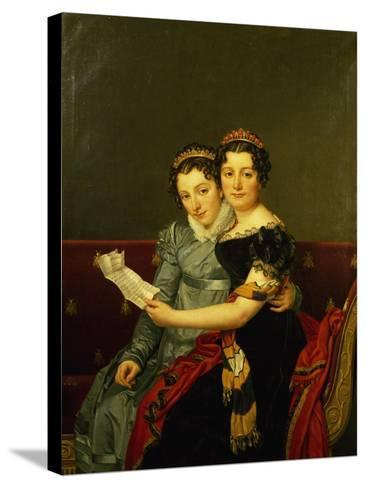Zenaide and Carlotta, Daughters of King Joseph-Jacques-Louis David-Stretched Canvas Print