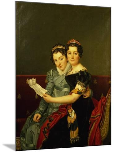 Zenaide and Carlotta, Daughters of King Joseph-Jacques-Louis David-Mounted Giclee Print