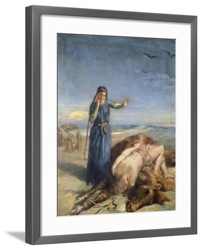 Cossack Girl Finding Body of Mazepa, 1851-Theodore Chasseriau-Framed Art Print