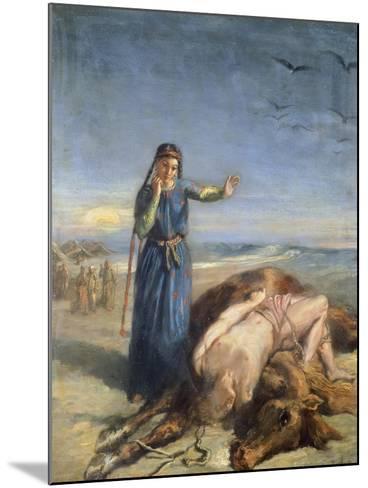 Cossack Girl Finding Body of Mazepa, 1851-Theodore Chasseriau-Mounted Giclee Print